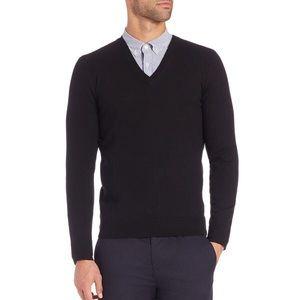 Burberry London Merino Wool Long Sleeve v neck